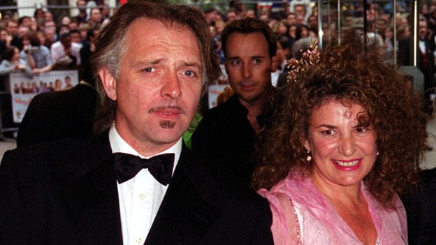 Rik Mayall, pictured with his wife Barbara.