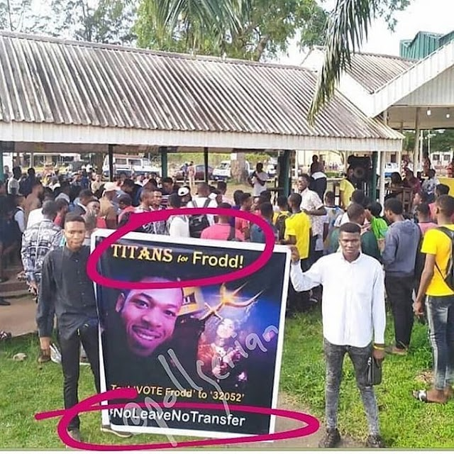 BBNaija 2019:- Tacha Fans Show Support For Frodd As They Vow To Vote For Him