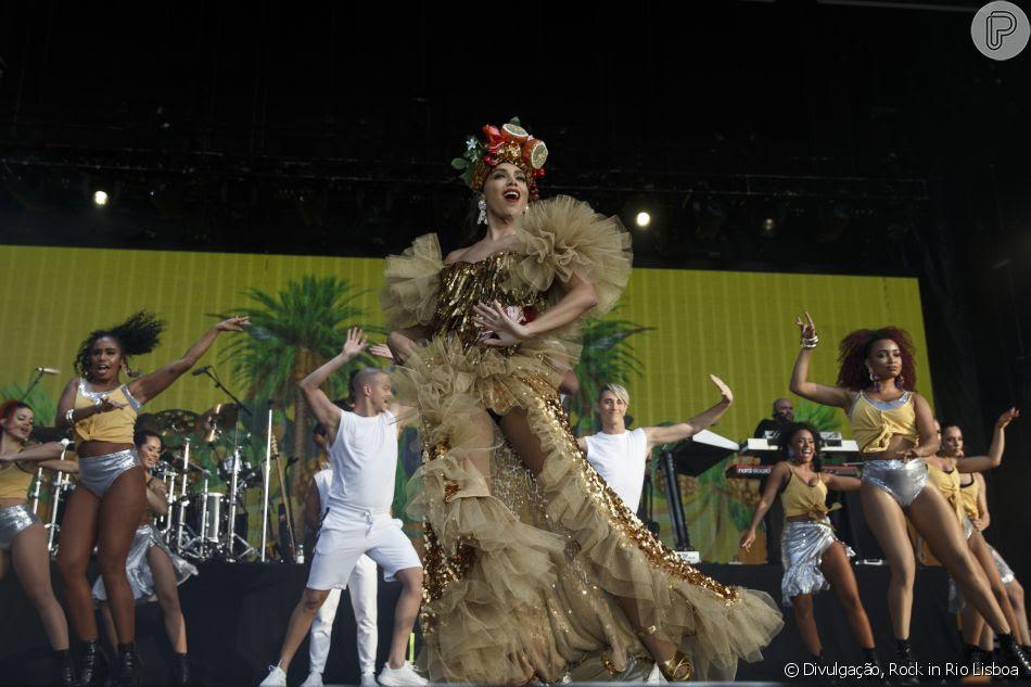 Anitta usou figurinos feitos exclusivamente pela grife Dolce & Gabbana nos shows da Europa
