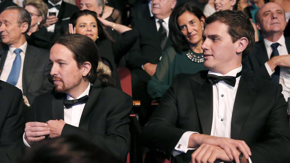 Resultado de imagen de Pablo Iglesias y Albert Rivera