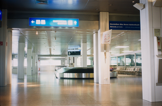 empty baggage claim