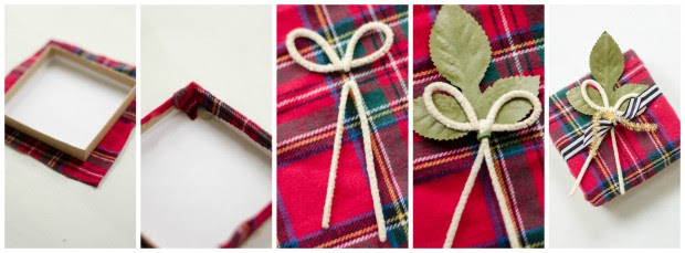 fabric wrapped gift box lid how-to instructions