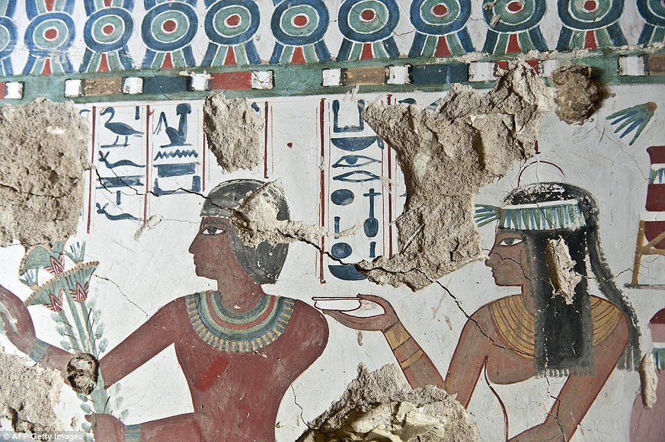 The tombs were found earlier this month near the Sheikh Abd el-Qurna dig site, situated at the feet of the Theban mountains
