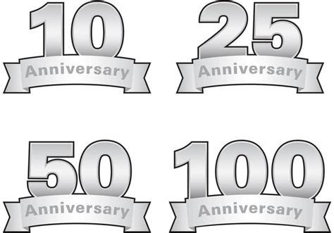 Silver Anniversary Vector Labels   Download Free Vector