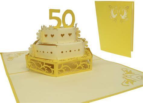 Pop up wedding card golden wedding anniversary   LIN   POP