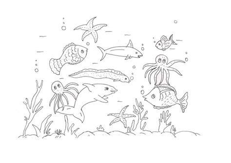 printable ocean coloring pages  kids