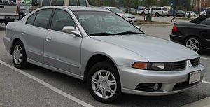 2002-2003 Mitsubishi Galant photographed in USA.