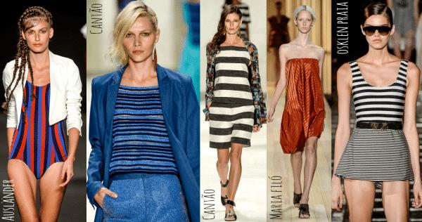 roupa com listras entre as tendências para a Primavera Verão 2015