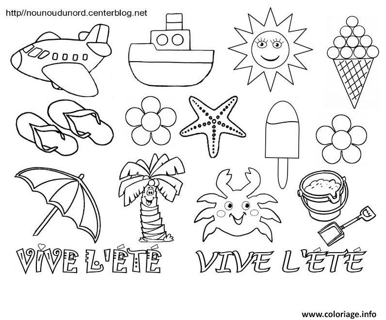 Coloriage Vive Lete Bonne Vacances Ete Jecoloriecom
