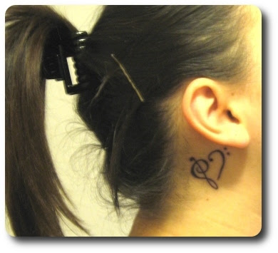 Music Tattoo Design Behind The Ear Tattoomagz