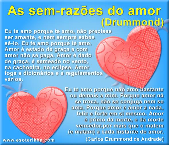 Ode Martins As Sem Razões Do Amor Drummond