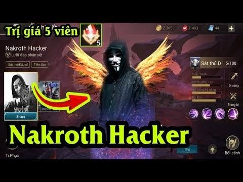 Hướng dẫn MOD Skin Nakroth Siêu việt bậc 7 (Hacker) trị giá 5 viên Đá Quý