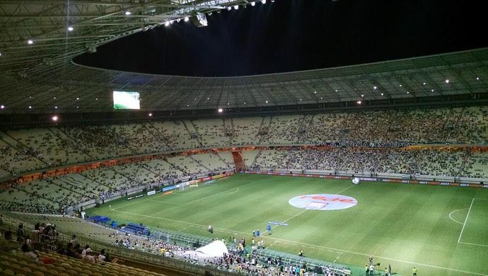 Arena Castelão, palco da decisão entre Ceará e Bahia (Foto: Juscelino Filho)