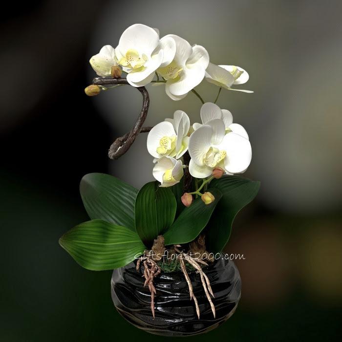 Silk Orchids Silk Flowers Artificial Flower Arrangement Singapore Flower Shop S