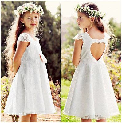 Baby Girls Dress Princess Party Wedding Lace Formal Dress