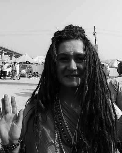 The White Sanyasin Maha Kumbh by firoze shakir photographerno1
