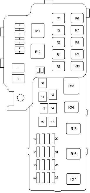 01 06 Toyota Camry Xv30 Fuse Diagram