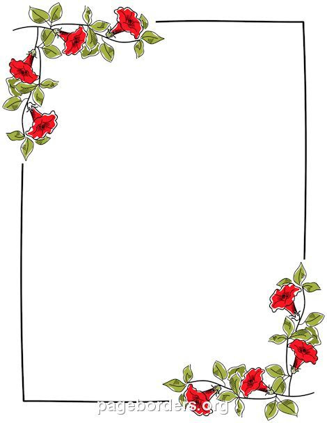 free flower borders for word document   Clipground