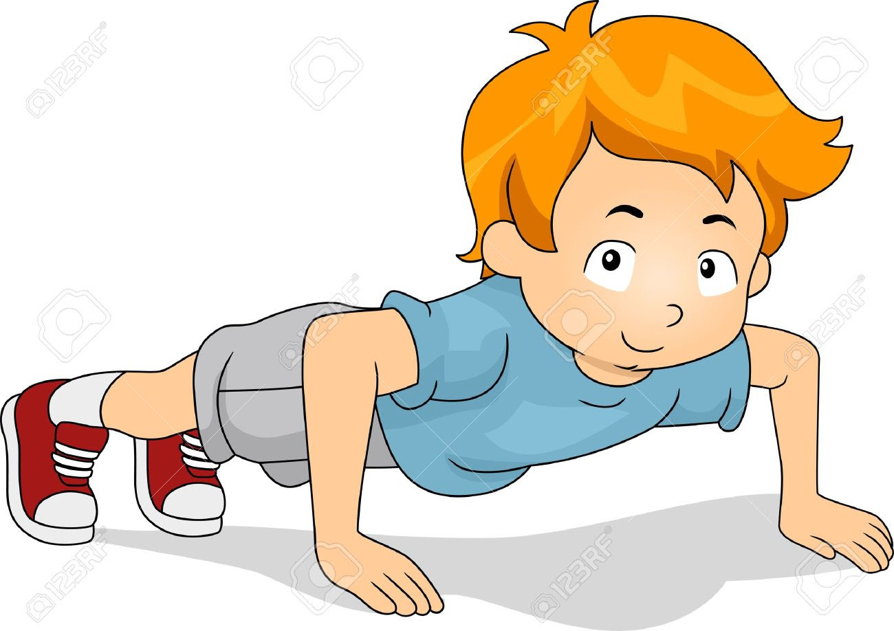 Image result for cartoon images of Push Ups