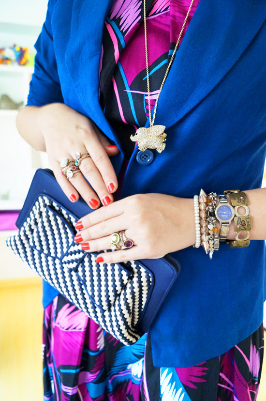Purple & Blue outfit