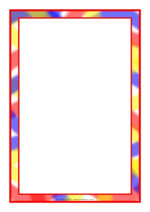 Themed A4 Page Borders for Kids, Editable Writing Frames and ...