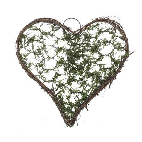 "5 3/4"" Mossy Grapevine Twig Heart   Wall Decor   Home Decor"