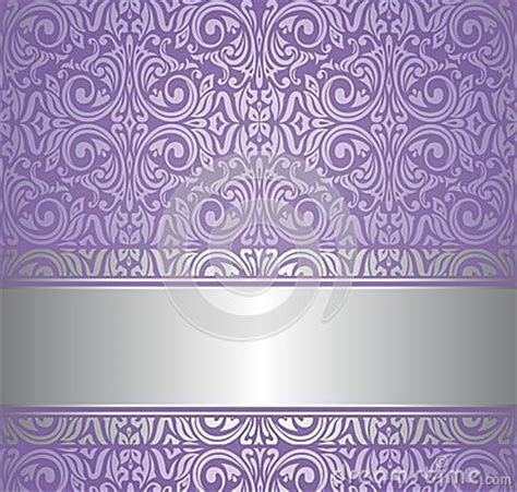 Violet And Silver Luxury Vintage Wallpaper Stock Images