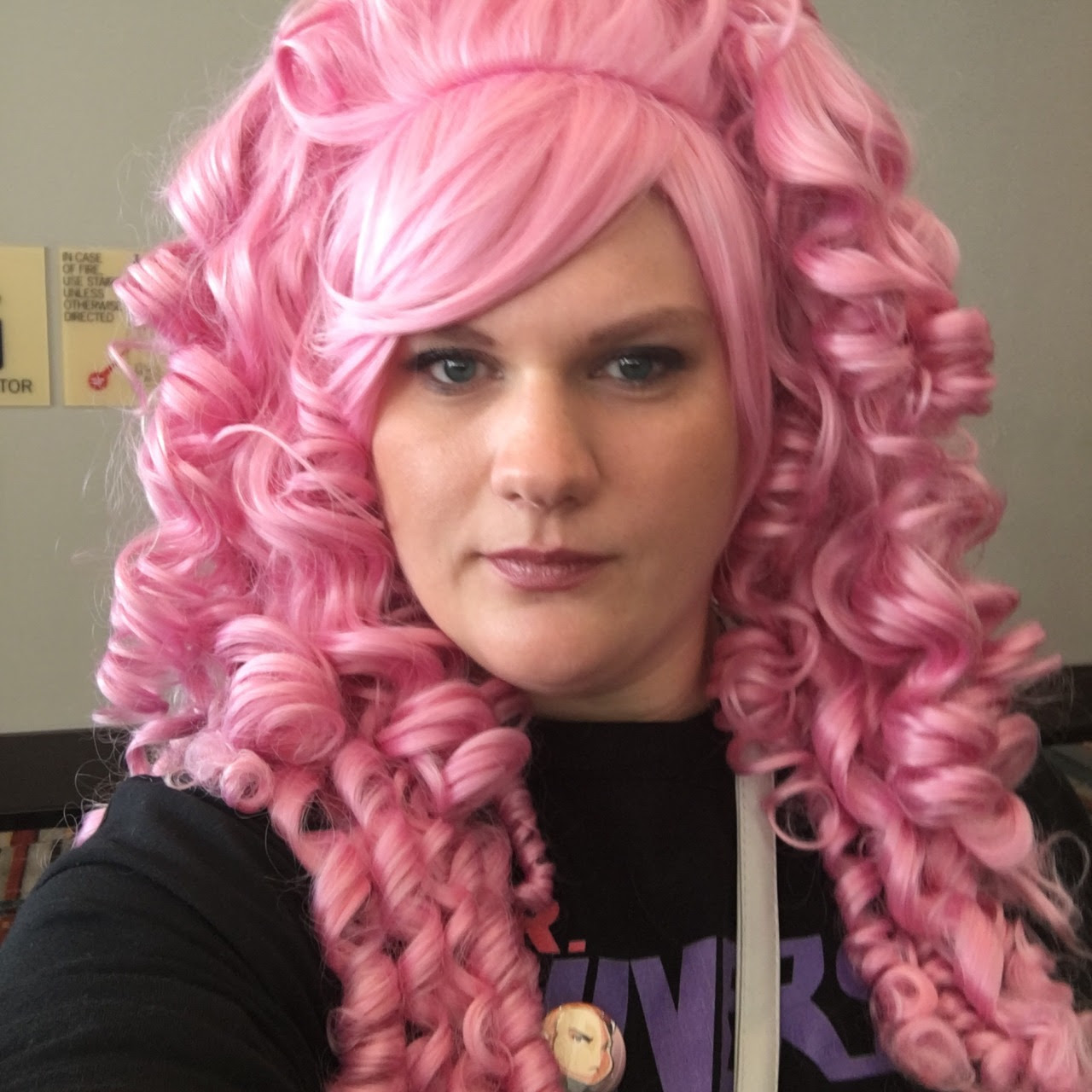 I went as casual Rose Quartz because I messed up the gown. :( but I had tons of fun and I'm so pleased with the wig. I plan to add even more hair to it.