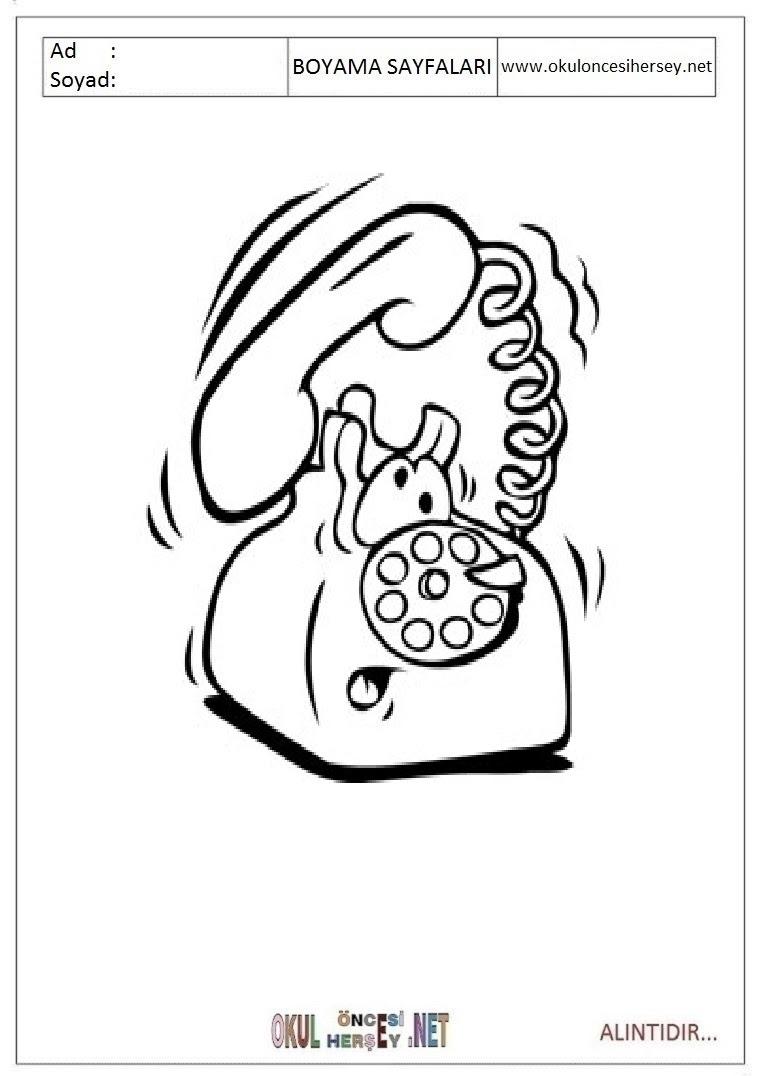 Telefon Boyama Sayfaları