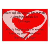 Anti-Valentine's Day Poem - Customized Greeting Cards
