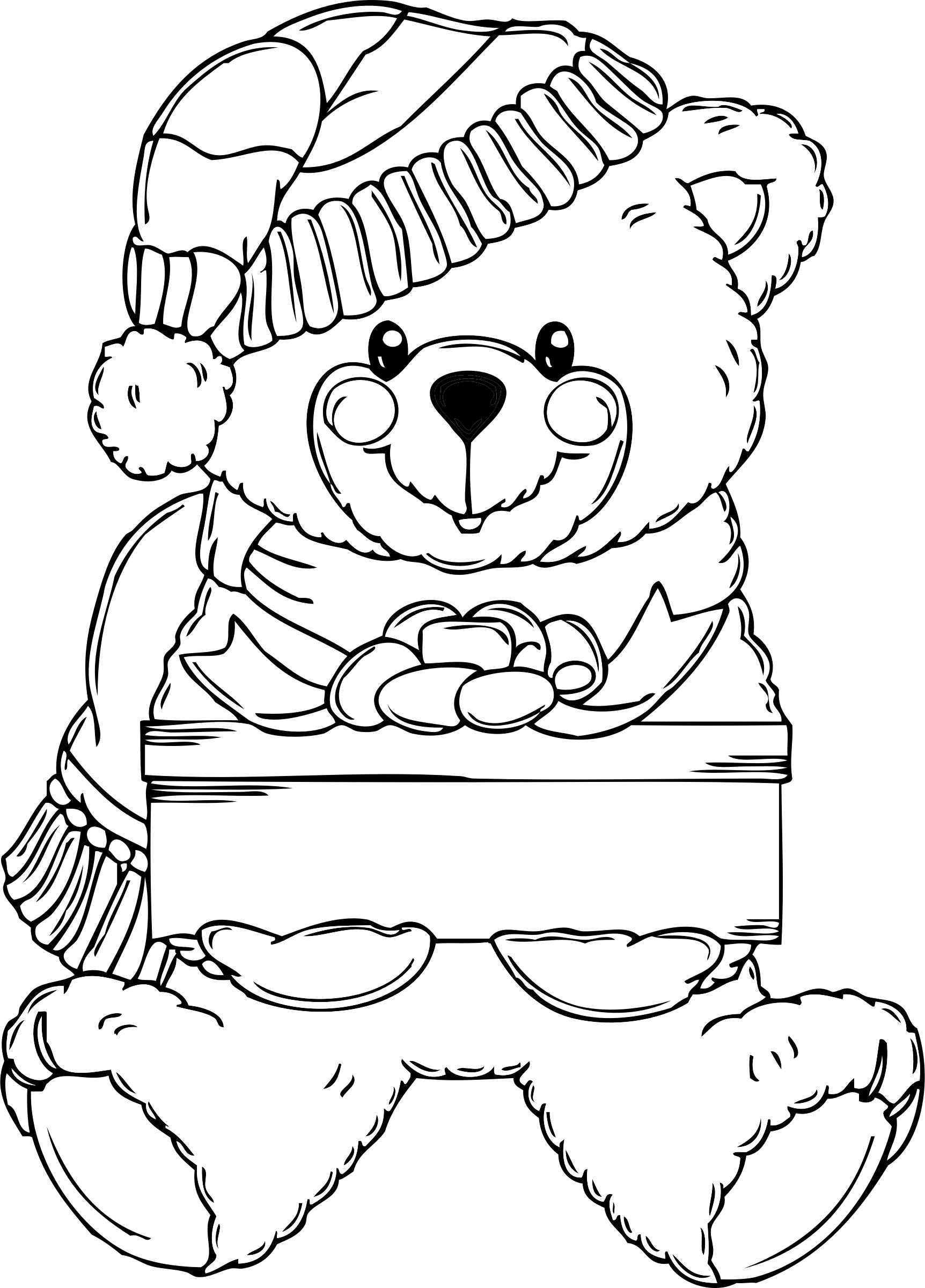 Christmas Clipart Coloring Pages At Getdrawingscom Free For