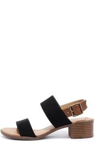 Tulum Trek Black Heeled Sandals