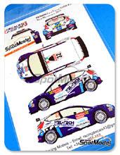 Calcas 1/24 Racing Decals 43 - Ford Fiesta S2000 Kel-Tech - Nº 32 - C. Breen + G. Roberts - Rally de Montecarlo 2012 para Kits de Belkit BEL-002