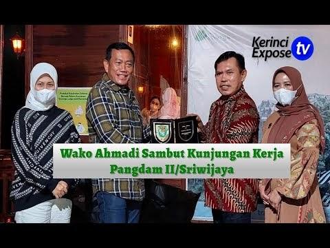 Wako Ahmadi Sambut Kunjungan Kerja Pangdam II/Sriwijaya