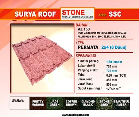 SURYA ROOF STONE PASIR Seng Gelombang BJLS Galvanized