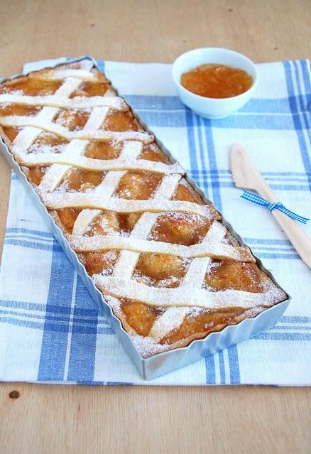 Marmalade and almond tart / Torta de amêndoa e geléia de laranja