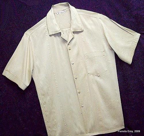"""Distressed"" Dupioni Silk Shirt"