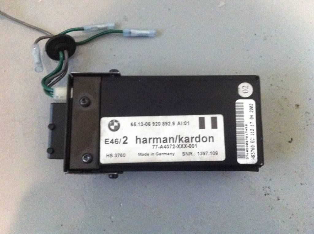 Any E46 Factory Harman Kardon Subwoofer E46fanatics