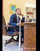 Obama nello Studio Ovale alla Casa Bianca (Foto web)