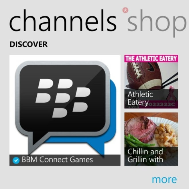 Latest BBM on Windows Phone brings support for Channels