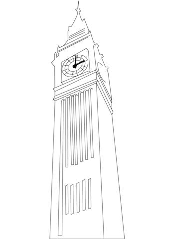 Coloriage Big Ben à Londres Coloriages à Imprimer Gratuits