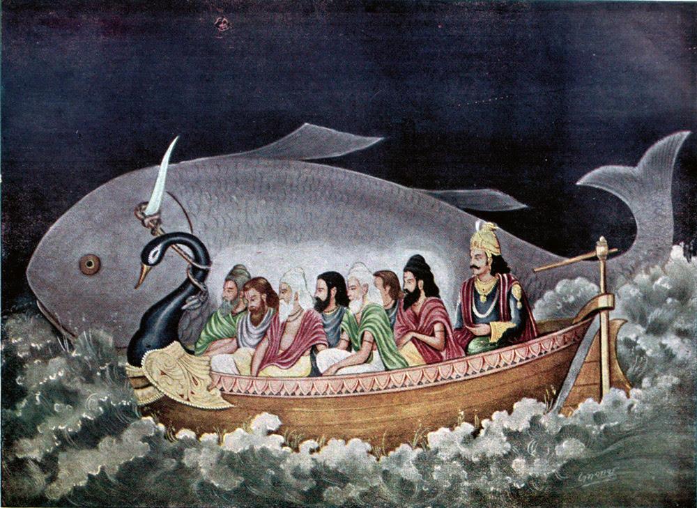 The fish avatara of Vishnu