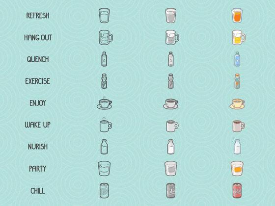 無料素材 食べ物や飲み物を描いた可愛いベクターイラストアイコンセット
