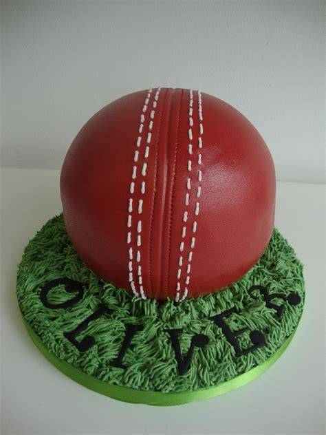 3D Cricket Ball Cake   Celebration Cakes   Cakeology