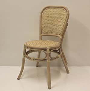 Amazon.com - Dining Armless Accent Wicker Side Chair Handmade ...
