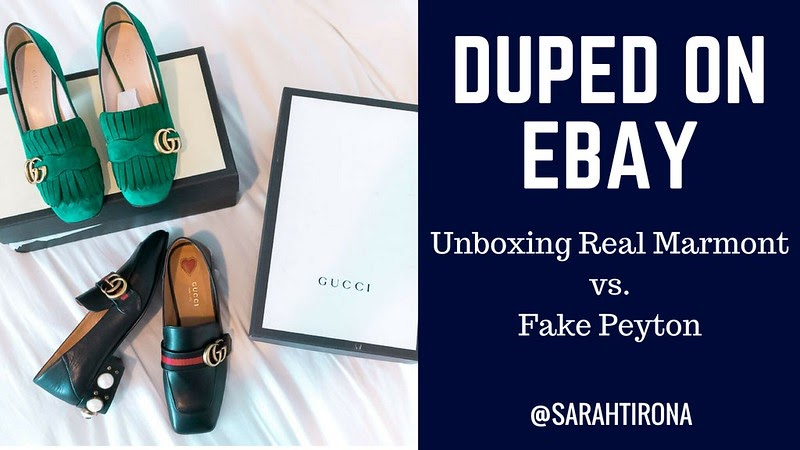 f355c6d075656d HOW TO SPOT  FAKE GUCCI MARMONT AND PEYTON LOAFERS