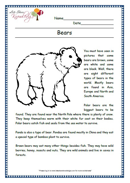 Prehensions For Grade 2 Ages 6 8 Worksheets