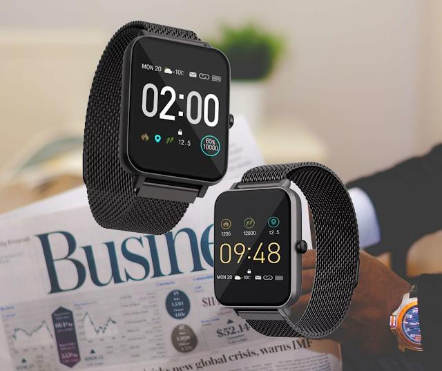 【HAVIT H1103A 智能手錶】 具備不銹鋼錶帶、30米防水 網店特價發售