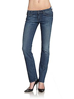 7 For All Mankind Faded Straight Leg Jeans
