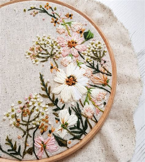 The colour palette for this wedding hoop commission was
